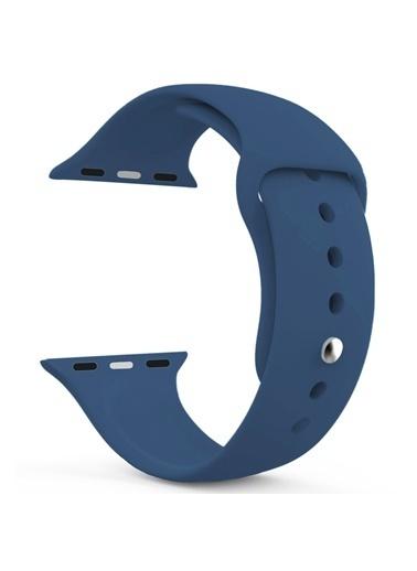 Microsonic Apple Watch SE 44mm Silikon Kordon Lacivert